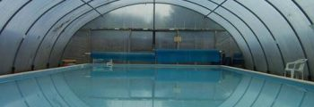 1994 poly-tunnel built, covering the pool